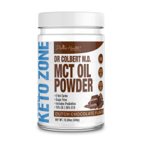 Keto Zone MCT Oil Powder - Dutch Chocolate - 348g - 30 servings