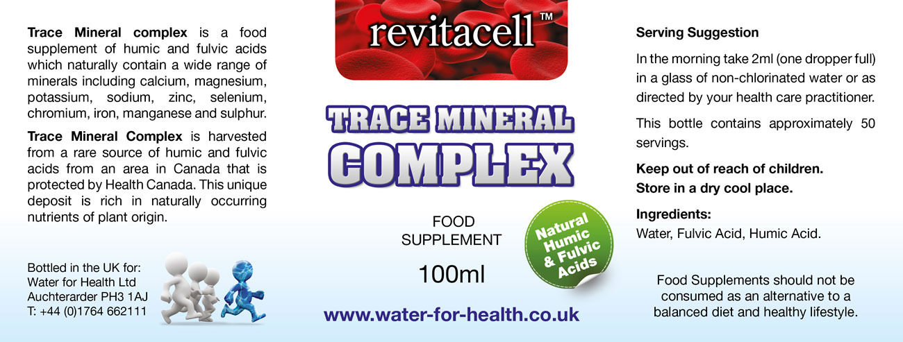 Trace Mineral Complex Supplement Facts