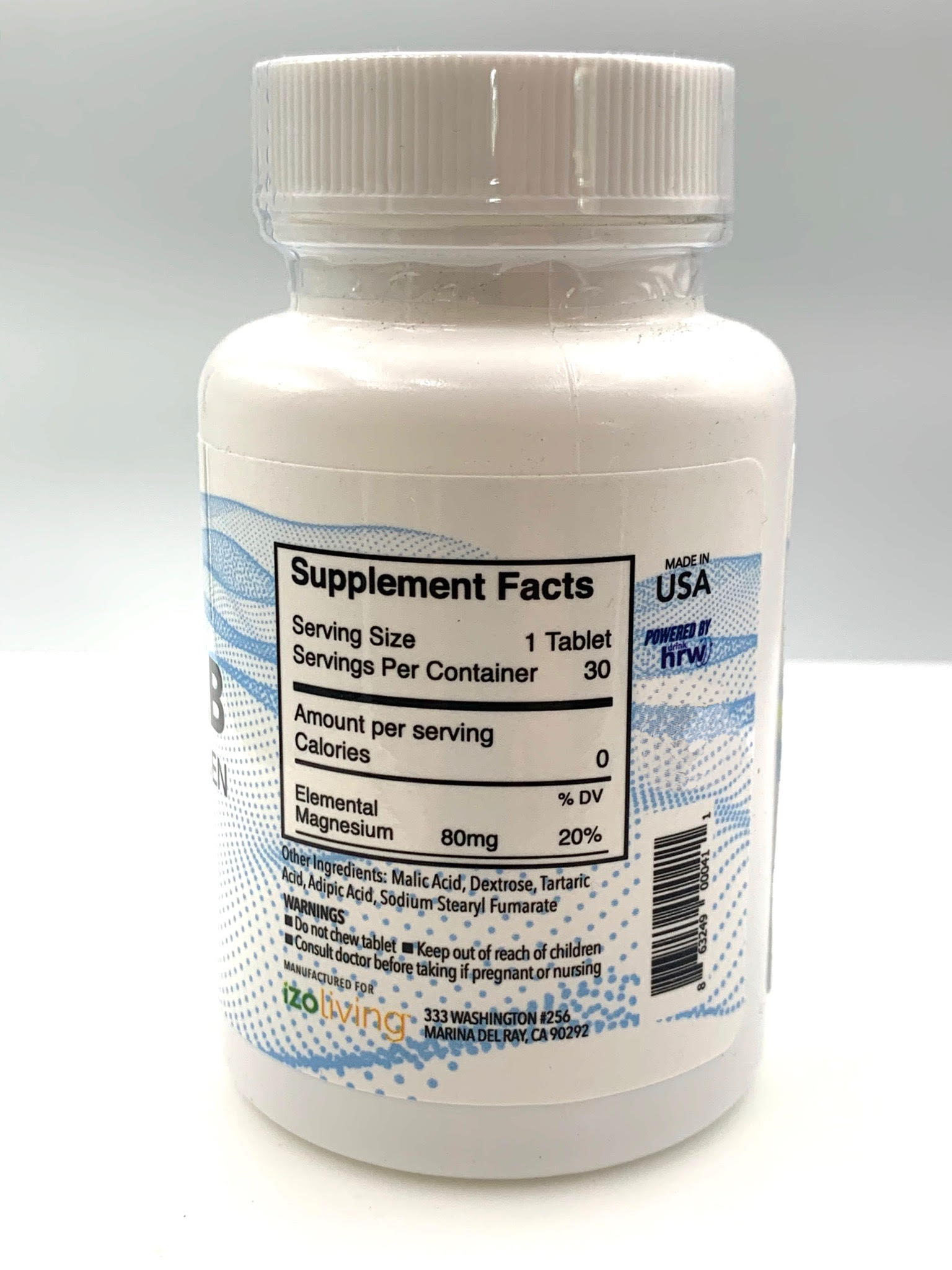 HydroTab Supplement facts