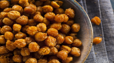 Delicious Alkaline Snack - Roasted Cinnamon Chickpeas